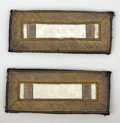 Political:Miscellaneous Political, A LIEUTENANT'S SHOULDER BOARDS FROM THE INDIAN WAR PERIOD - Thispair of US Army Lieutenant's shoulder boards are made of go...(Total: 1 Item)