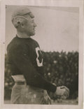 """Football Collectibles:Others, 1920's Jim Thorpe Signed Photograph. Native-American athletic superstar is seen here sporting the iconic Canton Bulldog """"C""""..."""