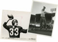 Football Collectibles:Photos, 1940's Sammy Baugh and Otto Graham Original Service Photographs Lotof 2. Collectors of football cardboard will immediately...