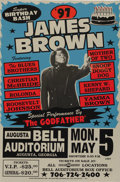 "Music Memorabilia:Posters, James Brown ""Super Birthday Bash"" Bell Auditorium Concert Poster(1997). If there's room in your collection for just one po...(Total: 1 Item)"