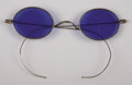 Antiques:Decorative Americana, Blue Tinted Glasses....
