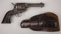 "Western Expansion:Cowboy, COLT SINGLE ACTION REVOLVER - Serial number 165640, circa 1896. 4 ¾"" barrel in .44-40 calibre. This revolver was made during... (Total: 2 Items)"