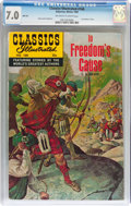 Silver Age (1956-1969):Classics Illustrated, Classics Illustrated #168 In Freedom's Cause HRN 169 (Gilberton,1969) CGC FN/VF 7.0 Off-white to white pages....