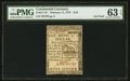 Colonial Notes:Continental Congress Issues, Continental Currency February 17, 1776 $1/6 PMG Choice Uncirculated63 EPQ.. ...