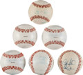 Baseball Collectibles:Balls, Collection of 6 Milwaukee Brewers Team Signed Baseballs - One WithMickey Mantle. ...