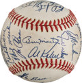 Autographs:Baseballs, 1972 Detroit Tigers Team Signed Baseball (24 Signatures)....