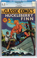 Golden Age (1938-1955):Adventure, Classic Comics #19 Huckleberry Finn HRN 28 (Gilberton, 1946) CGC FN+ 6.5 Off-white to white pages....