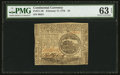 Colonial Notes:Continental Congress Issues, Continental Currency February 17, 1776 $4 PMG Choice Uncirculated63 EPQ.. ...