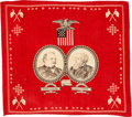 Political:Textile Display (pre-1896), Cleveland & Thurman: Jugate Bandanna....