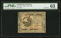 Colonial Notes:Continental Congress Issues, Continental Currency May 9, 1776 $6 PMG Choice Uncirculated 63.....