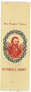 Political:Ribbons & Badges, Ulysses S. Grant: A Gorgeous Colorful Silk Campaign Ribbon in Pristine Condition. ...