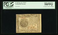 Continental Currency September 26, 1778 $7 PCGS Choice About New 58PPQ