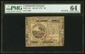 Colonial Notes:Continental Congress Issues, Continental Currency July 22, 1776 $6 PMG Choice Uncirculated 64.....