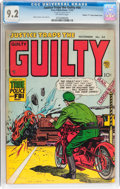 "Golden Age (1938-1955):Crime, Justice Traps the Guilty #44 Davis Crippen (""D"" Copy) pedigree Double Cover (Prize, 1952) CGC NM- 9.2 Off-white pages...."