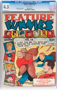 Feature Funnies #14 (Chesler, 1938) CGC VG+ 4.5 Off-white pages