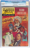 Silver Age (1956-1969):Classics Illustrated, Classics Illustrated #169 Negro Americans: The Early Years HRN 169 (Gilberton, 1969) CGC FN- 5.5 Off-white to white pages....