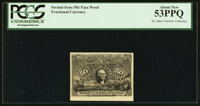 50¢ Second Issue Face Proof Milton PCGS About New 53PPQ