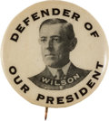 Political:Pinback Buttons (1896-present), Woodrow Wilson: Rare Picture Pin....