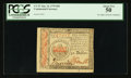 Colonial Notes:Continental Congress Issues, Continental Currency January 14, 1779 $50 PCGS About New 50.. ...