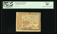 Continental Currency January 14, 1779 $50 PCGS About New 50