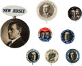 Political:Pinback Buttons (1896-present), Woodrow Wilson: Eight Buttons.... (Total: 8 Items)