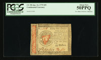 Continental Currency January 14, 1779 $55 PCGS About New 50PPQ