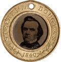 Political:Ferrotypes / Photo Badges (pre-1896), Stephen A. Douglas: Back-to-Back Ferrotype....