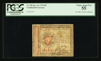 Continental Currency January 14, 1779 $55 PCGS Choice About New 55
