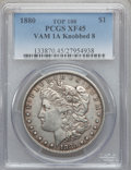 Morgan Dollars, 1880 $1 Knobbed 8, VAM-1A XF45 PCGS. Top-100. PCGS Population (21/42). . From The Parcfeld Collection....