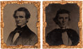 Photography:Tintypes, Jefferson Davis & Alexander Stephens: A Superb Pair of Tintypesby Abbott & Co. of New York. ... (Total: 2 Items)
