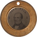 Political:Ferrotypes / Photo Badges (pre-1896), Bell & Everett: A Choice 1860 Ferro in a Rare and Distinctive Brass Frame. ...