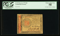 Continental Currency January 14, 1779 $60 PCGS Choice About New 58