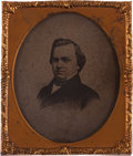 Photography:Ambrotypes, Stephen A. Douglas: Sixth Plate Ambrotype....
