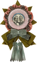 Political:Ribbons & Badges, Bryan & Sewall: A Spectacular, Mint 1896 Jugate Badge....