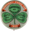 Political:Pinback Buttons (1896-present), William Jennings Bryan: Three-Leaf Clover Button....