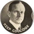 """Political:Pinback Buttons (1896-present), Calvin Coolidge: Very Rare 2 1/8"""" Celluloid with Puzzle Back. ..."""