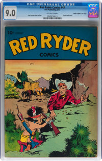 """Red Ryder Comics #43 Davis Crippen (""""D"""" Copy) pedigree (Dell, 1947) CGC VF/NM 9.0 Off-white pages"""