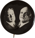 Political:Pinback Buttons (1896-present), Hoover & Curtis: Real Photo Jugate....