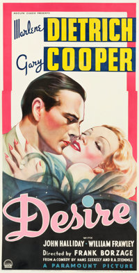 "Desire (Paramount, 1936). Three Sheet (41"" X 79"")"