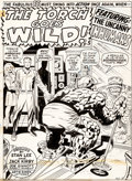 Original Comic Art:Splash Pages, Jack Kirby and Joe Sinnott Fantastic Four #99 The Thing inSki Gear Splash Page 1 Original Art (Marvel, 1970)....