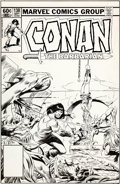 Original Comic Art:Covers, John Buscema Conan the Barbarian #138 Cover Original Art(Marvel, 1982)....