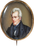 Political:Miscellaneous Political, Andrew Jackson: An Absolutely Stunning Large Portrait Brooch, Circa 1828-30. ...