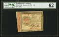 Continental Currency January 14, 1779 $80 PMG Uncirculated 62
