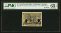 Fractional Currency:Second Issue, 50¢ Second Issue Experimental Face Milton 2E50F.4 PMG Gem Uncirculated 65 EPQ.. ...