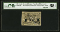 50¢ Second Issue Experimental Face Milton 2E50F.4 PMG Gem Uncirculated 65 EPQ