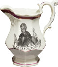 Political:3D & Other Display (pre-1896), William Henry Harrison: Strawberry Luster Pitcher....