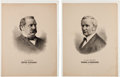 Political:Miscellaneous Political, Cleveland & Hendricks: Matching Campaign Posters for these 1884Running Mates. ... (Total: 2 Items)