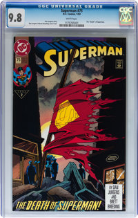 Superman #75 Group of 3 (DC, 1993) CGC NM/MT 9.8 White pages.... (Total: 3 Comic Books)