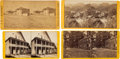 Photography:Stereo Cards, Stereoviews Picturing California Stagecoaches and Hotels. ... (Total: 4 Items)