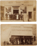 Photography:CDVs, Cartes de Visite Picturing Washington Territory Storefronts.... (Total: 2 Items)